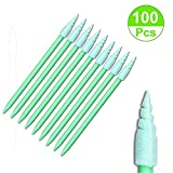 100pcs Spiral Foam Tip Foam Swab Cleaning Swabsticks for Camera,Gun,Optical Lens,Inkjet Printer,Electronics, Detailing Small Hole and Hard-to-Reach Area