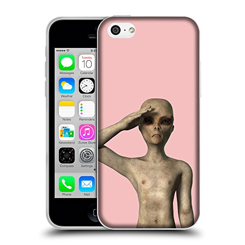 GoGoMobile Coque de Protection TPU Silicone Case pour // Q05500610 UFO extraterrestre baby Pink // Apple iPhone 5C