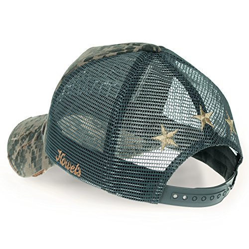 Baseball Jungle ililily Air Hat Trucker Cap Distressed Mesh Forces Howels Camouflage r7qtv