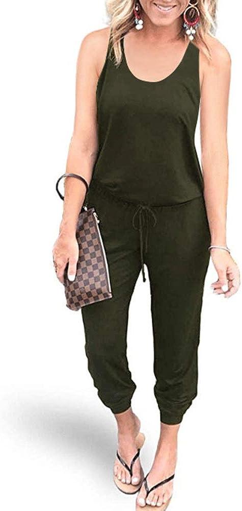 Green, Medium RINKOUa Women Summer Striped Sleeveless Back Zipper Wide Short Pants Rompers Jumpsuits