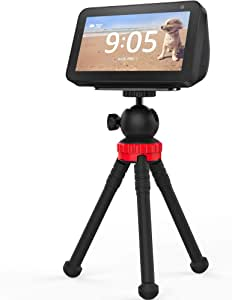 Stand for Echo Show 5, Flexible Tripod Adjustable Stand Holder - Echo Show 5 Stand 360 Degree Rotatable Spherical Tripod for Kitchen, Bedroom, Office and Show Anywhere