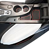 Chevy Camaro Custom Fit Cup Holder and Door Compartment Liner Accessories 2018 2017 2016 9-pc Set (Red Trim)