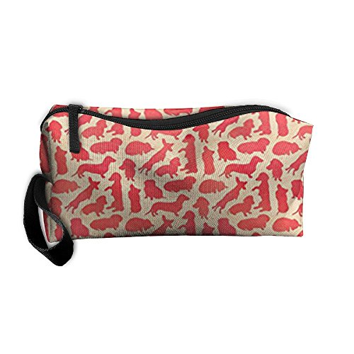 Travel Makeup Weiner Dog Dachshund Party Cosmetic Pouch for sale  Delivered anywhere in USA