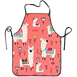 starmiami Llama Animal Colorful Intended For Family Woman Kitchen Apron One Size Fits Without Towel