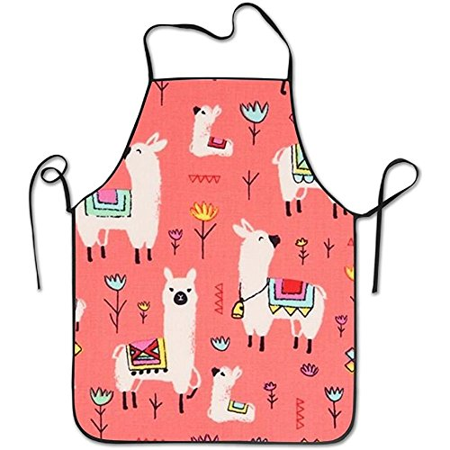 starmiami Llama Animal Colorful Intended For Family Woman Kitchen Apron One Size Fits Without Towel by starmiami