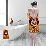 Nalahomeqq Hand towel set Frame mexican skull girl personality printPolyesternon-mildewpattern custom made19.7''x19.7''-13.8''x27.6''-31.5''x63''