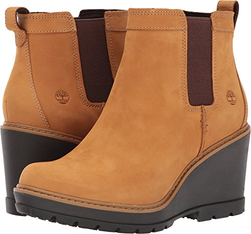 Timberland Women's Kellis Double Gore Chelsea Boot,Wheat Nubuck,5.5 M US