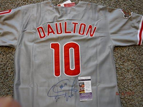 best service b3b72 a7b1b DARREN DAULTON (Dalton) Signed (1993 Mitchell & Ness ...