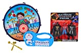 Leo Toys Let Rock Music Drum, Piano and Superheroes (Set of 3)