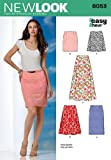 New Look 6053 Misses' Skirts Sewing Pattern, Size A (8-10-12-14-16-18)