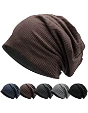 Winter Slouch Beanie Hat for Man Fleece Warm Lining Cap Knit Fabric Hat Breathable & Stretchy Skull Cap