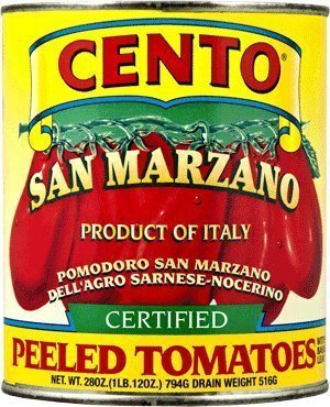San Marzano Certified Cento Italian Peeled Tomatoes, Case of 4 /28 oz by Cento (Solania San Marzano Tomatoes compare prices)