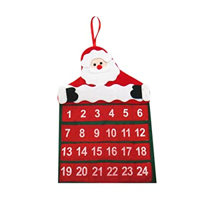 christmas countdown calendar misaky ornaments santa claus banner decoration