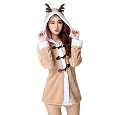 Amazon.com: Disfraz de Papá Noel con capucha de Navidad para ...