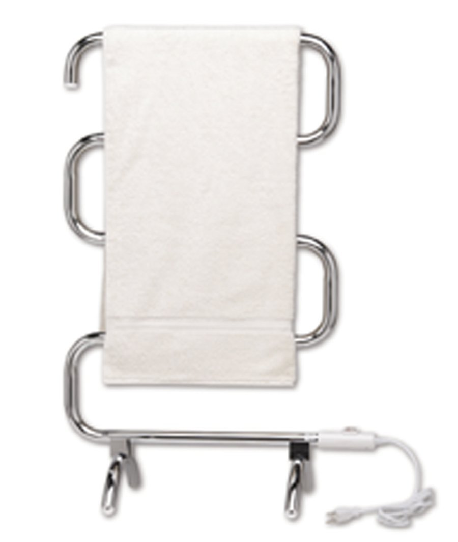 Warmrails HCC Mid Size Wall Mounted or Floor Standing Towel Warmer, 37.5-Inch Assembled, Chrome Finish by Warmrails