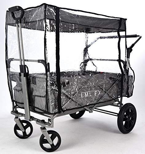 IMLEX IM-RS2 Regenschutz//Regenverdeck Zubeh/ör f/ür faltbaren Bollerwagen IM-2001 f/ür Modelle mit Schiebefunktion