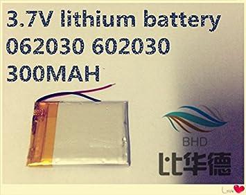 ARBUYSHOP 2pcs de la batería de litio de 3,7 V 062030 602030 ...