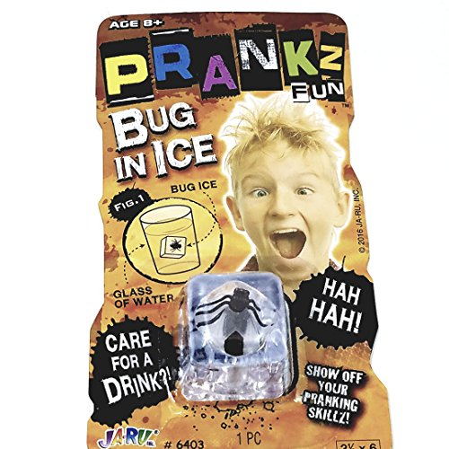 Prankz Fake Fly In The Ice Cube Prank Realistic Looking Bug Inside Plastic Ice Cube Novelty Toy