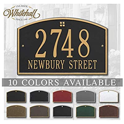Metal Address Plaque Personalized Cast The Cape Charles Plaque. Display Your Address and Street Name. Custom House Number Sign. : Garden & Outdoor