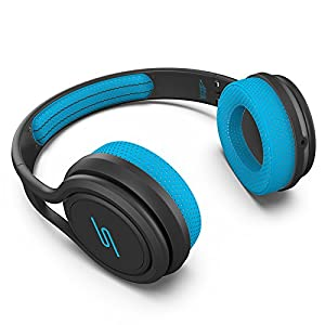 SMS Audio SMS-ONWD-SPRT-BLU STREET by 50 On-Ear Wired Sport Headphones – Blue