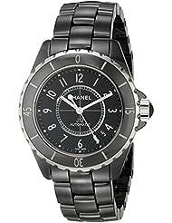 Chanel Men's H0685 J12 Black Dial Watch