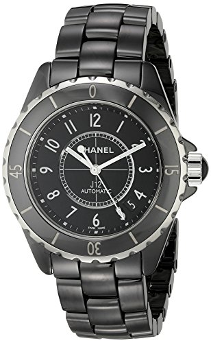 Ceramic Black Chanel Watch - Chanel Men's H0685 J12 Black Dial Watch