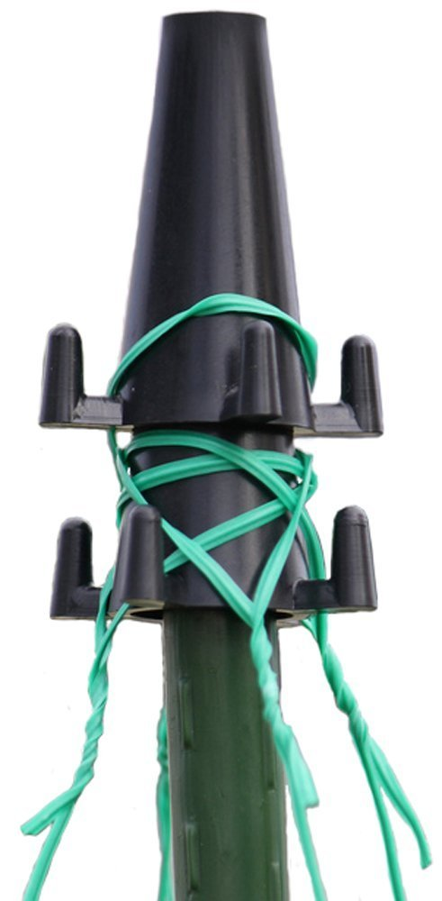 Zenport HG101 10-Pack Hook and Grow Plant Tie Support Stabilizer, Tomato Cage Alternative