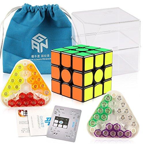 D-FantiX Gan 356 Air S Magnetic Speed Cube 3x3 Gan 356 Air SM Magic Cube Puzzle Toy Black