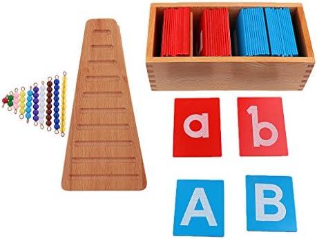 Fenteer Montessori Material Toy Letter A-Z Alfabetos Tablero + Matemáticas Materiales Cuentas De Colores Escaleras Niños Juguetes De Aprendizaje Temprano: Amazon.es: Juguetes y juegos