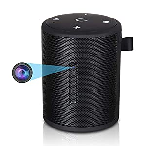 Hidden Camera,1080P WiFi HD Spy Cam in Bluetooth Speakers Wireless Mini Video Recorder Camera with Motion Detection, Real-Time View, Nanny Cam for Indoor Home Security Monitoring