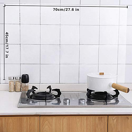 Sufang 4pcs Clear Oil Proof Wall Stickers Wallpaper Kitchen Backsplash Wall Protector Transparent Waterproof Heat Resistant Self Adhesive Sticker For Kitchen Dining Room Wood Countertop Pricepulse