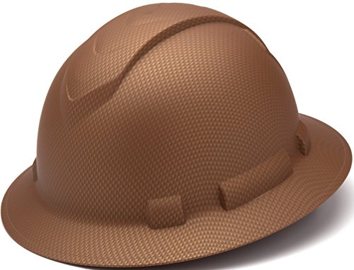 Pyramex Safety PYRAMEX - HP54118 - Copper - Full Brim Ridgeline Full Brim Graphite Pattern Hard Hat, Copper Graphite Pattern by Pyramex Safety (Image #5)
