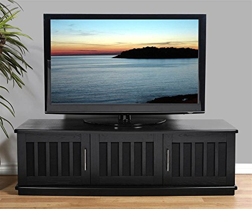 Plateau LSX-T 62 B Wood TV Stand, 62-Inch, Black Oak Finish -