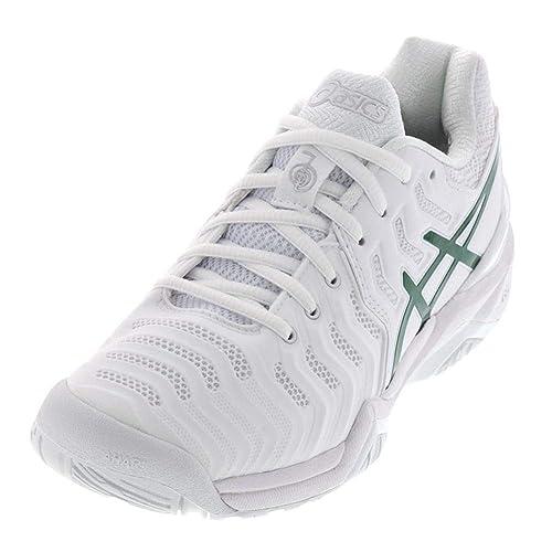 d2d3d0a43a65 ASICS Men s Gel-Resolution 7 Novak Djokovic Tennis Shoes White Green-()  White
