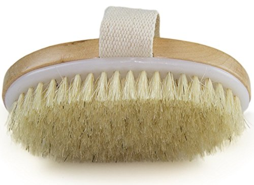 VASLON Natural Bristle Bath&Body Brush Improves Skin's Health And Beauty Shower Bath Brush for Better Exfoliation-Clear Dead Skin Cells While Reducing Cellulite & Toxins from VASLON