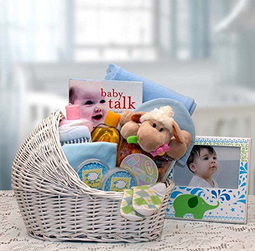 - Welcome Baby Bassinet Gift Basket - For Baby Boy