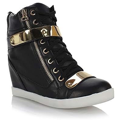 Amazon.com | Fashion Thirsty Womens Wedge Concealed Heel ...