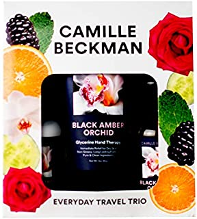 product image for Camille Beckman Everyday Collection Travel Trios, Black Amber Orchid, Glycerine Hand Therapy 3 oz, Silken Body Cream 2 oz, Complete Cleansing Gel 2 oz
