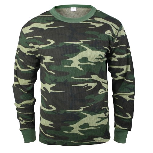 Rothco Thermal Top, Woodland Camo, Small