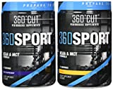 360Cut 360Sport Instantized BCAA and All Natural MCT Oil Formula, Blue Raspberry/Mango, 768 Gram