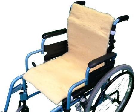 Able2 – piel de oveja protección de asiento/respaldo para silla de ruedas