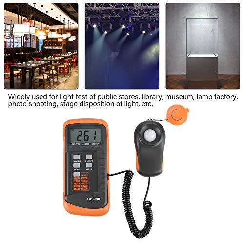 Light Meter, Illuminance/Light Meter LX1330B Digital Luxmeter LCD Display Digital Illuminance Meter 0-200,000 Lux Meter, Digital Illuminance Lux Meter Luminometer by Wal front (Image #3)
