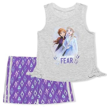 Disney Frozen Women Sleeveless Prime and Shorts Matching Outfit Set