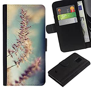 For Samsung Galaxy S5 Mini / Galaxy S5 Mini Duos / SM-G800 !!!NOT S5 REGULAR! ,S-type® Spring Autumn Fall Summer Nature Sky Field - Dibujo PU billetera de cuero Funda Case Caso de la piel de la bolsa protectora