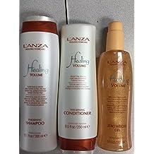 L'ANZA Healing Volume Thickening Shampoo 10.1 oz + Conditioner 8.5 oz + Zero Weight Gel by L'anza