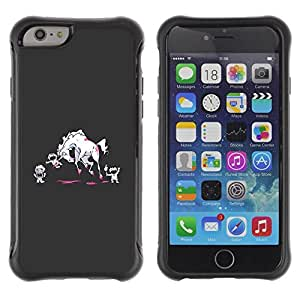 Suave TPU GEL Carcasa Funda Silicona Blando Estuche Caso de protección (para) Apple Iphone 6 / CECELL Phone case / / Monsters Cartoon Art Blood /