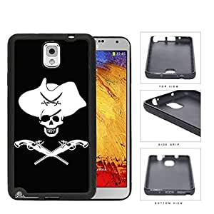 Pirate Skull Western Theme Silicone Cell Phone Case Samsung Galaxy Note 3 III N9000 N9002 N9005