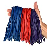 Coopay 180 Pack Large Rubber Bands, Heavy Duty Trash Can Band, Strong Elastic Bands for Office Supply, Garbage Cans, File Folders, Size 8 inches (Multicolor)