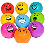DollarItemDirect 3'' INFLATED Silly FACE Vinyl Ball (36PC/UN), Case of 8
