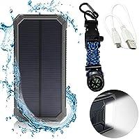 Solar Phone Charger 12000mAh - LED Flash...